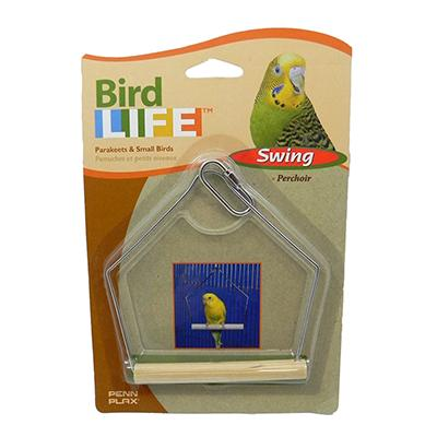 Penn Plax Swing Wood 4 inch Bird Toy