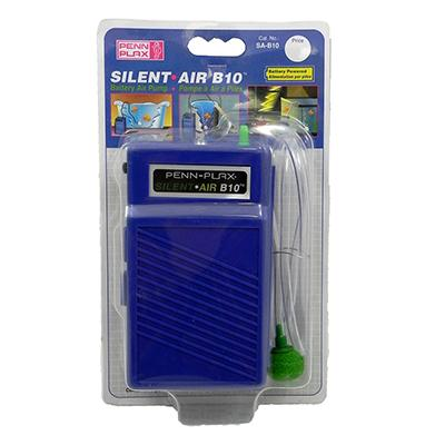 SILENT AIR B10 Battery Powered Aquarium Air Pump Click for larger image