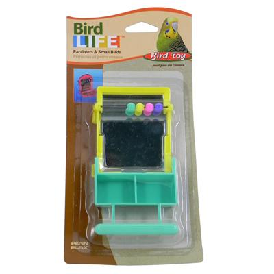 Penn Plax Mirror w/Perch Bird Toy