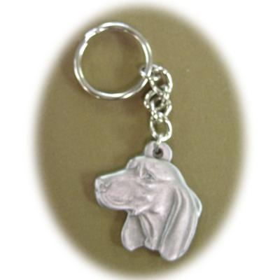 Pewter Key Chain I Love My Coonhound