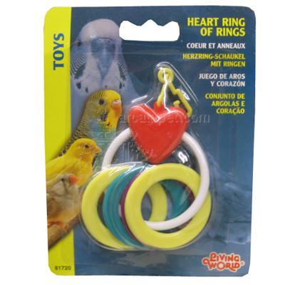 LivingWorld Heart Ring of Rings Bird Toy Click for larger image