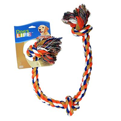 Rope Tug 3-Knot Color Super Dog Toy