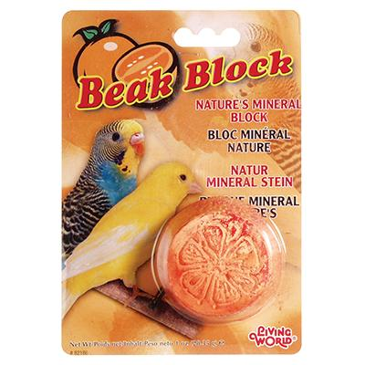 Hagen Parakeet Mineral Beak Block Orange Flavor