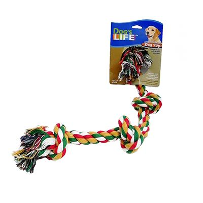 Rope Tug 4-Knot Color Medium Dog Toy
