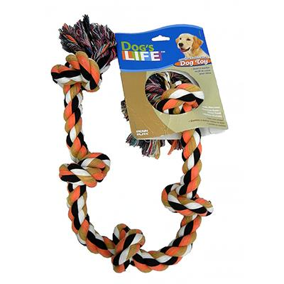 Rope Tug 5-Knot Color Monster  Dog Toy