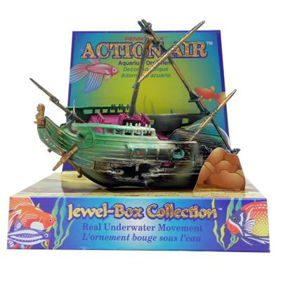 Penn Plax Action Half Shipwreck Aquarium Ornament Click for larger image
