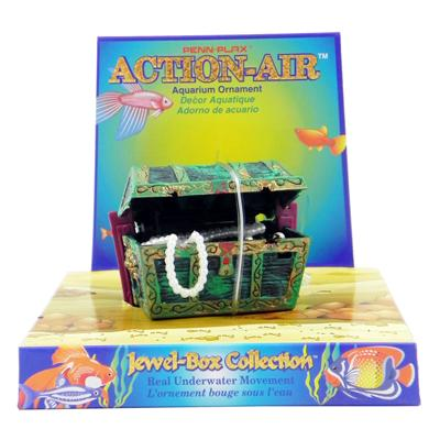 Penn Plax Action Treasure Chest Aquarium Ornament Small