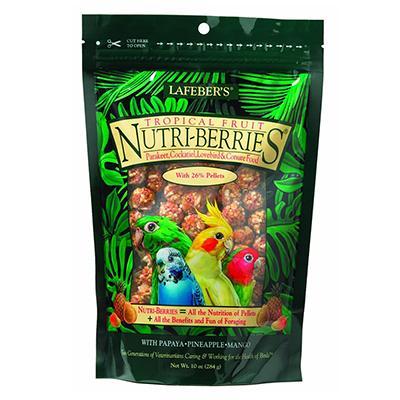 Lafeber Gourmet Tropical Fruit NutriBerries Keet Food Click for larger image