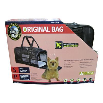 Original Deluxe Sherpa Bag Small Black Pet Carrier