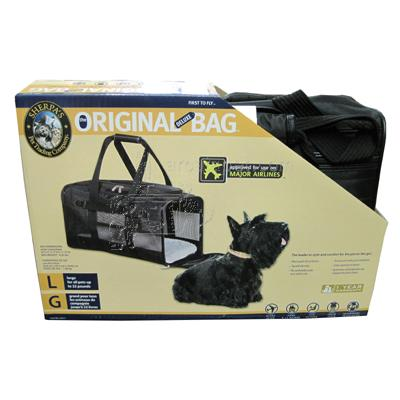 Original Deluxe Sherpa Bag Large Black Pet Carrier