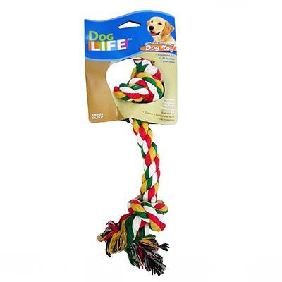 Rope Bone Medium Color Dog Toy Click for larger image