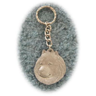 Pewter Key Chain I Love My Spitz
