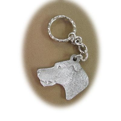 Pewter Key Chain I Love My Irish Wolfhound