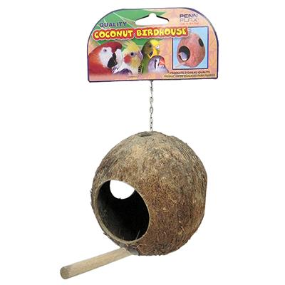 Coconut Shell Bird House or Nest for Finches