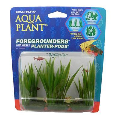 Amazon Sword 6 pod Plastic Aquarium Plant