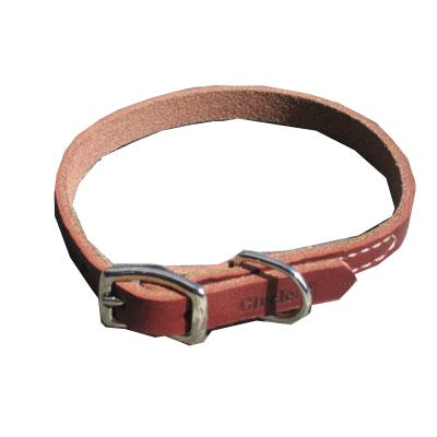 Circle T Latigo Single Layer Leather Dog Collar 10 inch Click for larger image