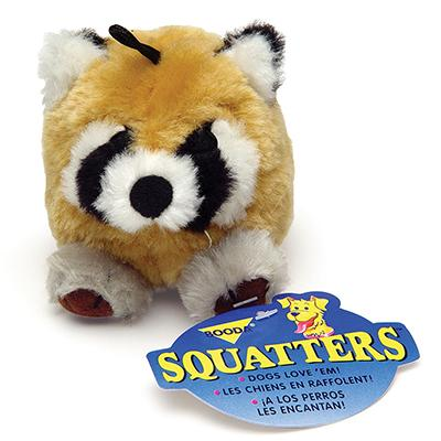 Booda Squatter Raccoon Dog Toy Click for larger image