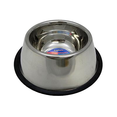 Steel Dog Bowl Non Skid Spaniel Click for larger image