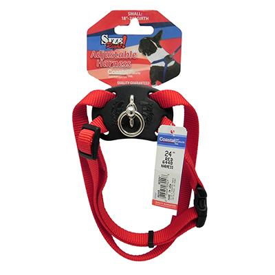 Nylon Dog Harness Size Right Small Red
