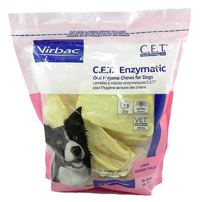 Virbac C.E.T. Dental Chews For Dogs Large 30 Count Click for larger image