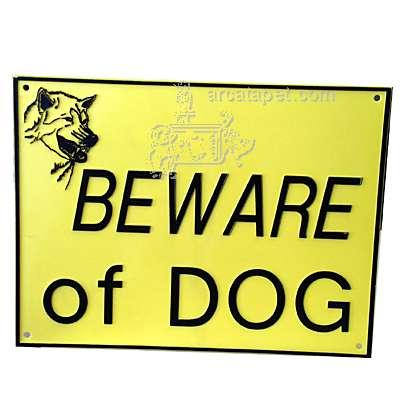 Beware of Dog Sign Large Plastic