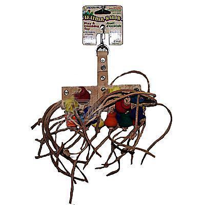 Leather Kabob Medium Bird Toy