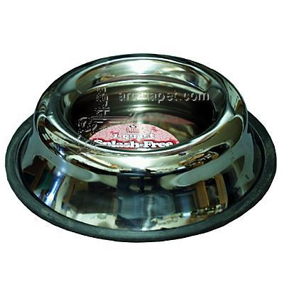 Stainless Steel Splash Free Dog Bowl 1 Quart (32 oz)