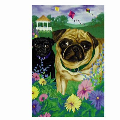 GR8 Dogs Pug House Flag