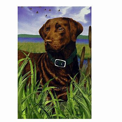 GR8 Dogs Chocolate Labrador  House Flag