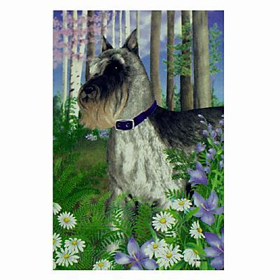 GR8 Dogs Schnauzer House Flag Click for larger image