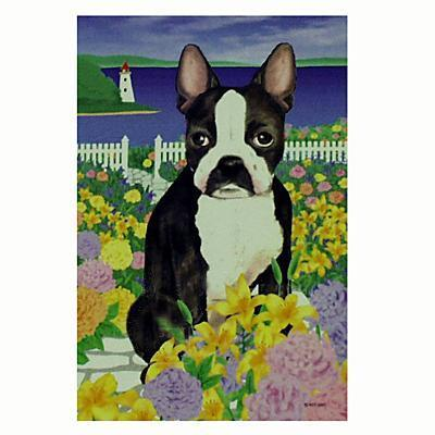 GR8 Dogs Boston Terrier House Flag Click for larger image