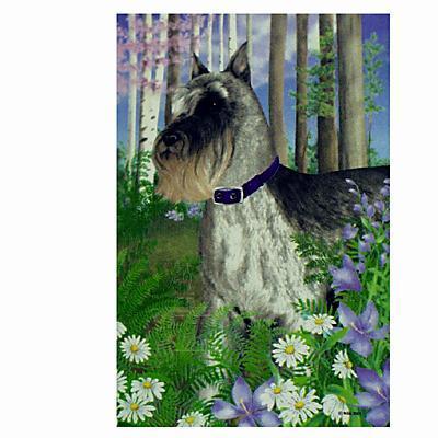 GR8 Dogs Schnauzer Garden Flag