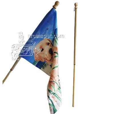 garden flag pole with solar light walmart dollar tree solid wood house