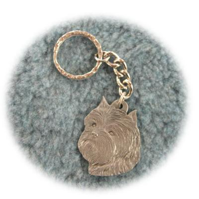 Pewter Key Chain I Love My Affenpinscher