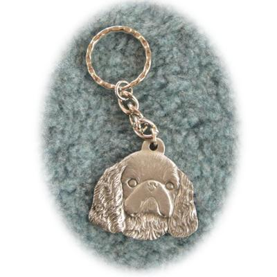 Pewter Key Chain I Love My English Toy Spaniel