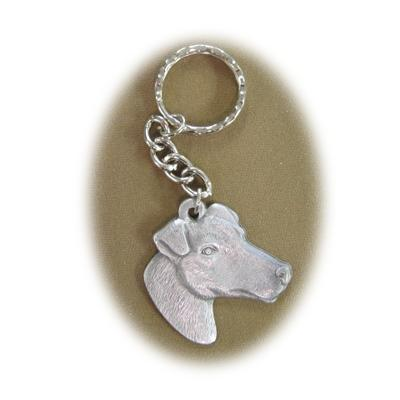 Pewter Key Chain I Love My Smooth Haired Fox Terrier