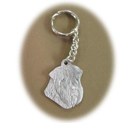 Pewter Key Chain I Love My Soft Coated Wheaten Terrier