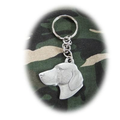 Pewter Key Chain I Love My Vizsla