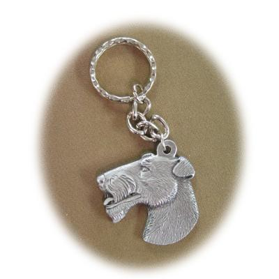 Pewter Key Chain I Love My Wire Haired Fox Terrier