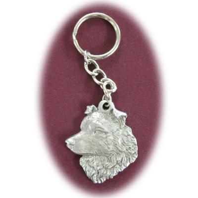 Pewter Key Chain I Love My Australian Shepherd Click for larger image