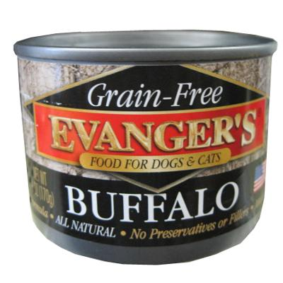Evanger's Buffalo Canned Dog and Cat Food 6 oz