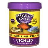 Omega One Small Floating Cichlid Pellets Fish Food 3.5-oz