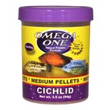 Omega One Medium Floating Cichlid Pellets Fish Food 3.5-oz