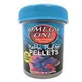 Omega One Betta Buffet Floating Pellets Fish Food  1-oz