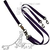 Pet Walker-Plus Nylon Leash 2-Dog Purple Large