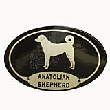 Euro Style Oval Dog Decal Anatolian Shepherd