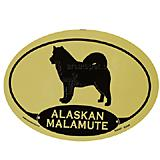 Euro Style Oval Dog Decal Alaskan Malamute