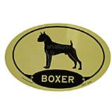 Euro Style Oval Dog Decal Boxer