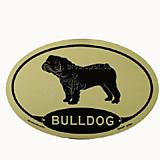 Euro Style Oval Dog Decal Bulldog