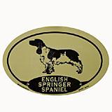Euro Style Oval Dog Decal English Springer Spaniel